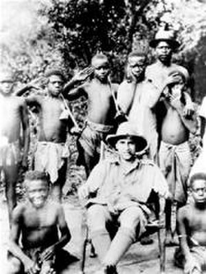 E. E. Evans-Pritchard -  E. E. Evans-Pritchard with a group of Zande boys in Sudan. Picture taken in the period 1926–1930
