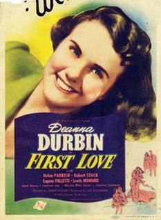 <i>First Love</i> (1939 film) 1939 American musical film by Henry Koster