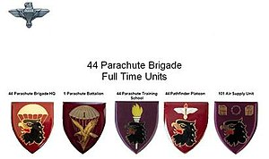 44 Parachute Brigade (South Africa) - Full Time Units 44 Parachute Brigade