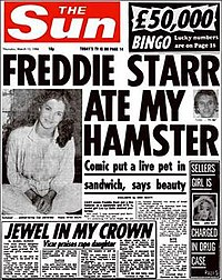 The 13 March 1986 edition of The Sun, with the famous headline.