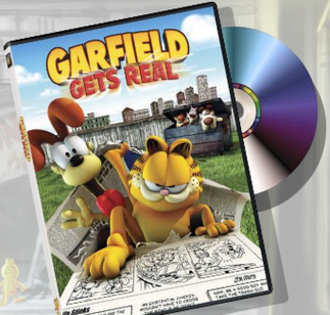Garfield Gets Real - DVD and packaging