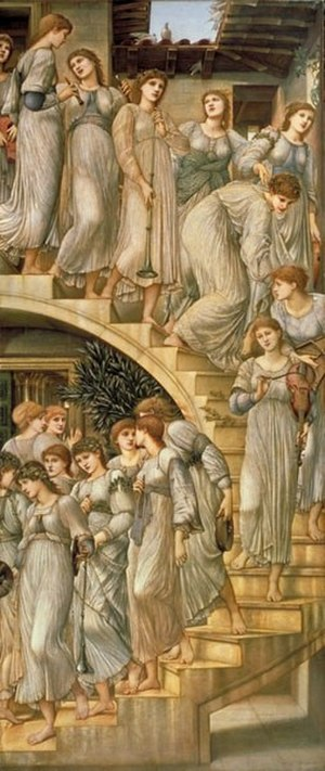 "Florence Farr - ""The Golden Stairs"" by Burne-Jones"
