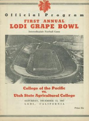 Grape Bowl - Cover of 1947 Official Program