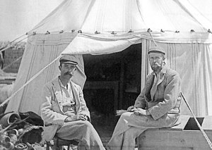 Oxyrhynchus Papyri - Grenfell (left) and Hunt (right) in about 1896