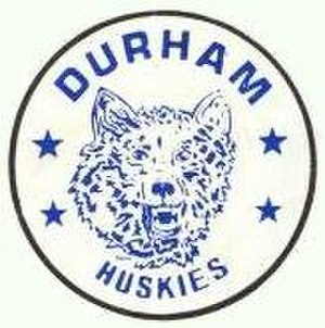 Durham Huskies - Image: Huskies Game Puck 1980