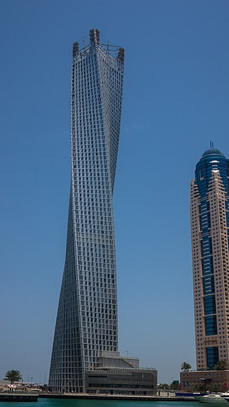 Cayan Tower - Image: Infinity Tower Dubai