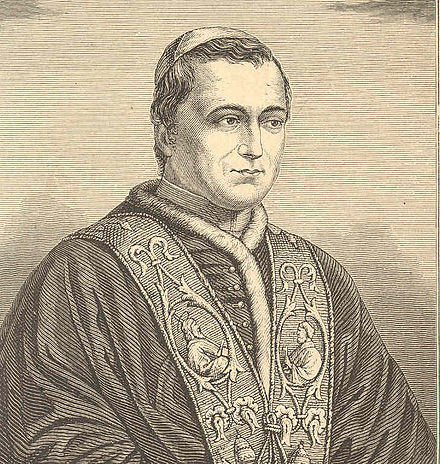 An 1846 sketch of Pope Pius IX soon after his election to the papacy Io9cardinal1846.jpg
