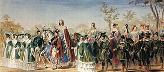 Beauty pageant - Georgiana Seymour, Duchess of Somerset was crowned the 'Queen of Beauty' at the Eglinton Tournament of 1839, the first known beauty pageant