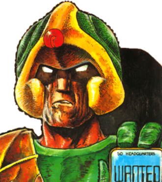 Strontium Dog - Johnny Alpha Art by Carlos Ezquerra.