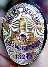 An LAPD badge