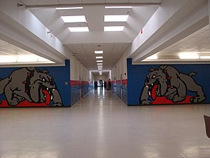 "Las Cruces High School - Central Hallway, ""D"" Wing"