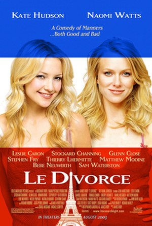Le Divorce - Theatrical release poster