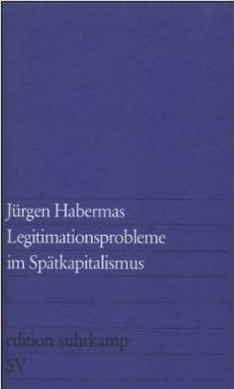 Legitimation Crisis (book) - Cover of the German edition