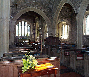 Leigh-on-Mendip - Inside St Giles' Church