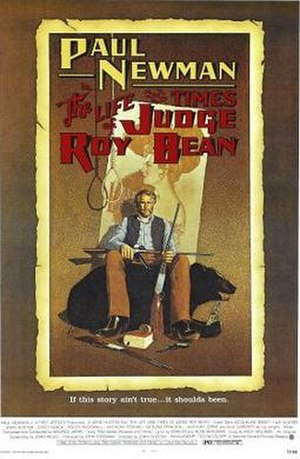 The Life and Times of Judge Roy Bean - Theatrical release poster by Richard Amsel