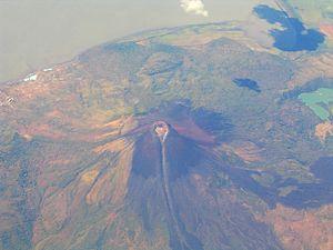 Momotombo - Aerial view of Momotombo.