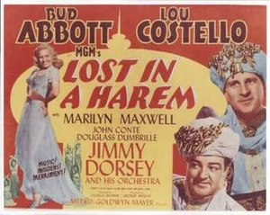 Lost in a Harem - Theatrical release poster