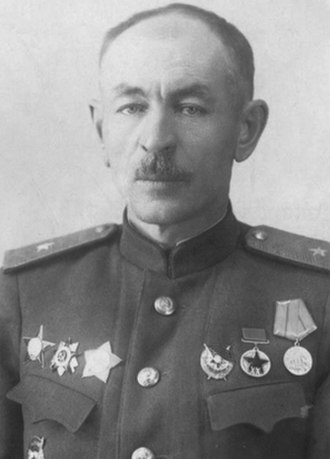 293rd Rifle Division (Soviet Union) - Major General Pavel Lagutin, ca. 1943–44, commander of the 1st formation of the 293rd Rifle Division