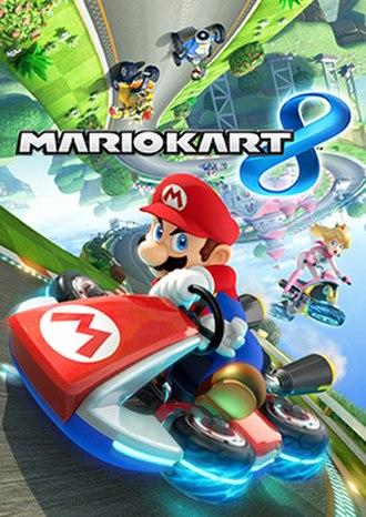 Mario Kart 8 - International packaging artwork, depicting Mario, Princess Peach, Luigi, and Bowser