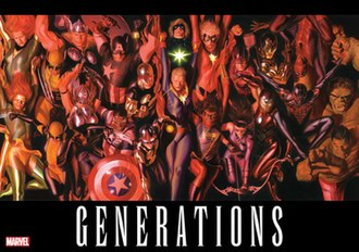 Generations (comics) - Promotional image of Generations. Art by Alex Ross.