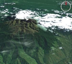 Mount Wilhelm - NASA Landsat image of Mount Wilhelm