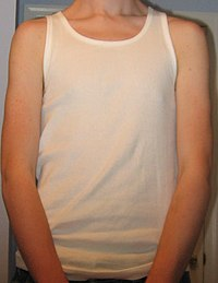 972a7e89c47b6 A teenage boy wearing a sleeveless shirt