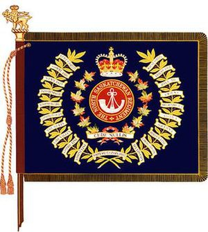 The North Saskatchewan Regiment - The regimental colour of the North Saskatchewan Regiment.