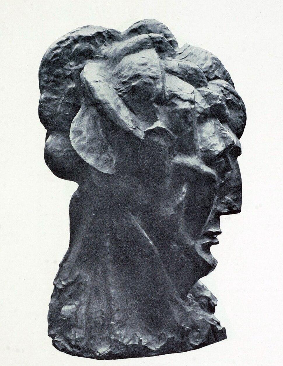 Pablo Picasso, 1909–10, Head of a Woman (Fernande), modeled on Fernande Olivier (right side)