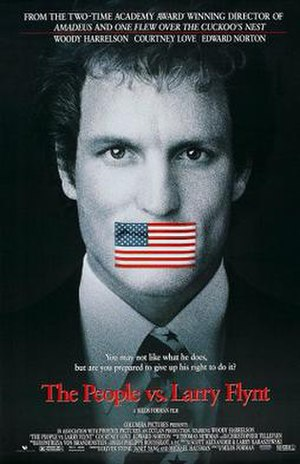 The People vs. Larry Flynt - Theatrical release poster featuring the Flag of the United States
