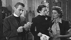 Poison Pen (film) - Reginald Tate, Flora Robson and Ann Todd in Poison Pen