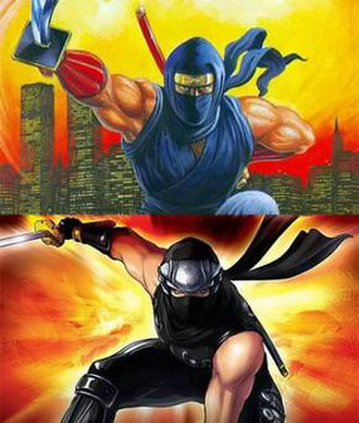 Ryu Hayabusa - Comparison of Ryu's design in the original (top) and current (bottom) Ninja Gaiden series