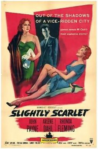 Slightly Scarlet (1956 film) - Theatrical release poster