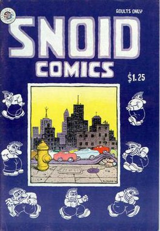 Snoid - The cover of Snoid Comics (Kitchen Sink Press, 1979). Artwork by Robert Crumb.