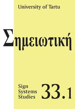 Sign Systems Studies - Image: Sss 33.1
