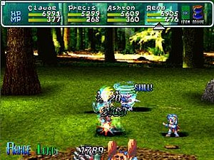 Star Ocean: The Second Story - A random encounter battle