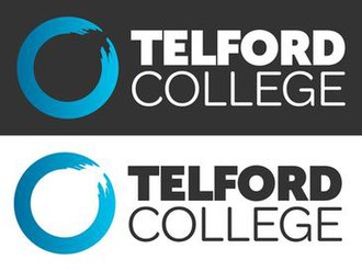 Telford College - Both variations of the college logo