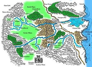 The Chronicles of Thomas Covenant - Map drawn by Lynn K. Plagge to illustrate the books.
