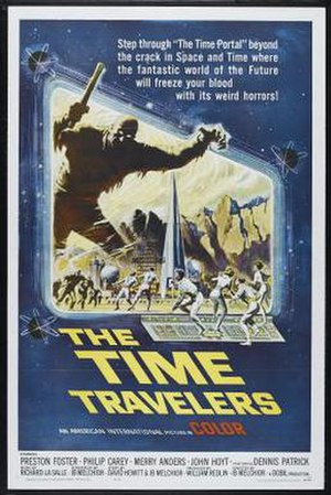 The Time Travelers (1964 film) - Theatrical release poster by Reynold Brown