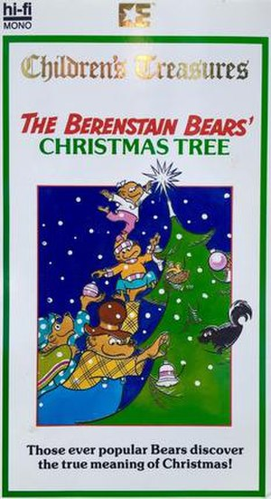 The Berenstain Bears' Christmas Tree - Cover of Embassy Home Entertainment VHS release (1987)