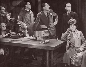 The Ghost Train (1931 film) - The film's main characters in the station's waiting room
