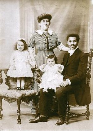 Louise Laroche - Louise (seated center) and her family, prior to their voyage on the Titanic