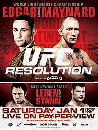 A poster or logo for UFC 125: Resolution.