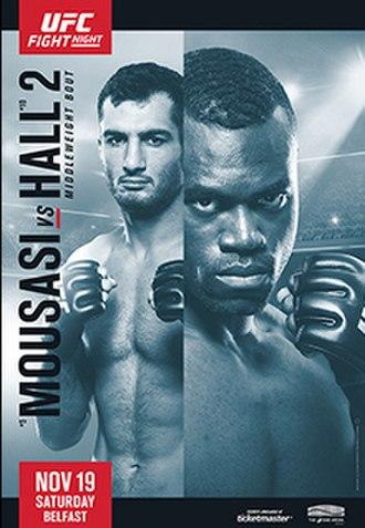 UFC Fight Night: Mousasi vs. Hall 2 - Image: UFC Belfast poster