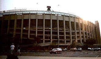 Veterans Stadium - Exterior of Veterans Stadium.