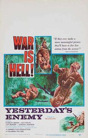 Yesterday's Enemy - Original American release film poster