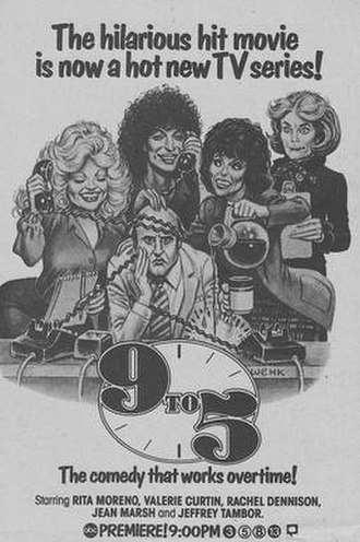 """9 to 5 (TV series) - Image: """"9 to 5"""" television series from TV Guide"""