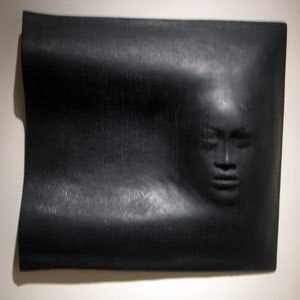 Gwen Lux - 'He is the Night (Kamehameha)', fiberglass and resin sculpture by Gwen Creighton Lux, 1976, Hawaii State Art Museum