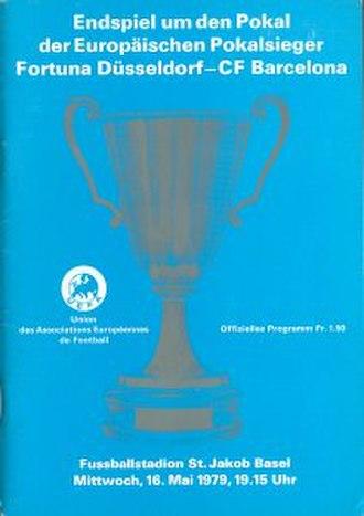 1979 European Cup Winners' Cup Final - Image: 1979 European Cup Winners' Cup Final programme