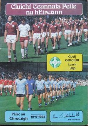 1983 All-Ireland Senior Football Championship Final - Image: 1983 All Ireland Senior Football Championship Final P