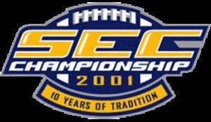 2001 SEC Championship Game - 2001 SEC Championship logo.
